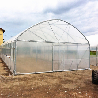 Single Span Commercial Agriculture Greenhouse China Manufacturer for Tomato/Cucumber/Pepper/Strawberry Hydroponics