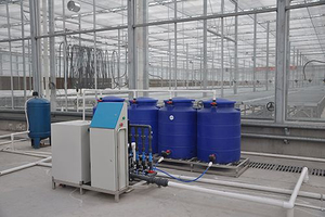 Fertigation System of Irrigation and Fertilizer Dosing in an Industrial Greenhouse